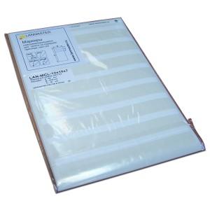 Маркер самоклеющийся, л.А4, 134х9, для патч-панелей, белый, 28 шт/л.