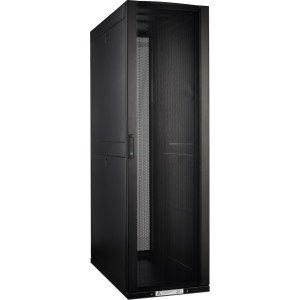 Шкаф LANMASTER DCS 48U 600x1070 мм, с перфорированными дверьми, без боковых панелей, черный