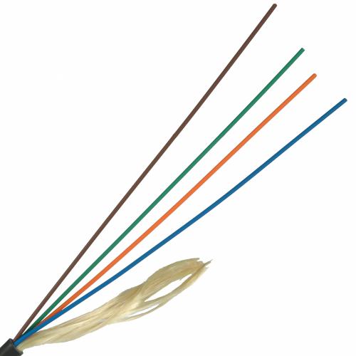 Кабель оптический внутренний, Distribution, PVC, 8 волокон,  SM G657, желтый LAN-OFC-DI8-S7