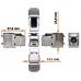 Модуль Keystone, RJ45, кат.6A, STP, 180 градусов LAN-OK45S6A/180