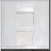 Вставка адаптер 45 х 45 (рамка Mosaic) для 1 модуля Keystone, со шторкой MDX-SIP-45-1K