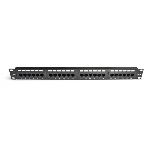 "Патч-панель  24 порта 19  "" MDX RJ45 UTP категория 5е 1U MDX-PPR-UTP5е-24"