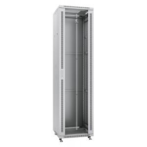 """Cabeus Шкаф 19"""" 47U напольный телекоммуникационный 600x600 серый, разборный, дверь стекло"""