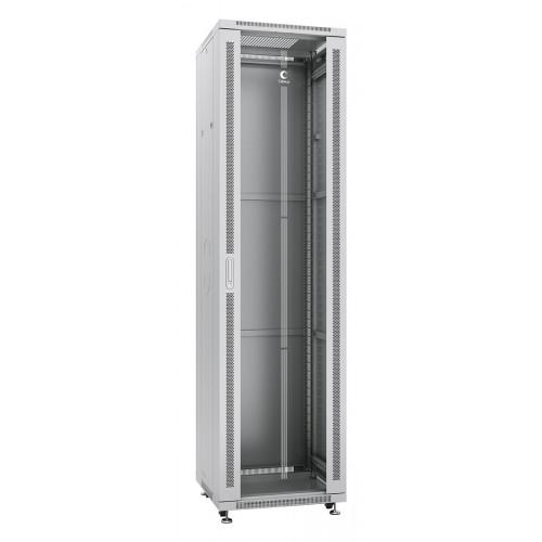 """Cabeus Шкаф 19"""" 47U напольный телекоммуникационный 600x600 серый, разборный, дверь стекло SH-05C-47U60/60"""