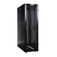 Шкаф ЦМО 48U серверный ПРОФ напольный 800x1200 дверь перфор. 2 шт., черный, в сборе