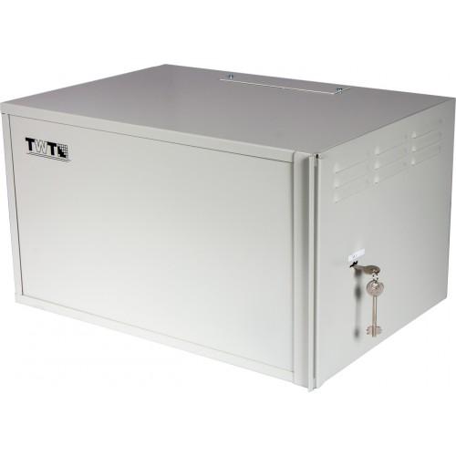 "Шкаф TWT антивандальный 19"" пенального типа, 6U 600x400 мм, серый TWT-CBWSF-6U-6x4-GY"