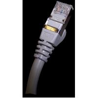Патч-корд RJ45 TWT кат 5e FTP шнур медный экранированный 1.5 м серый