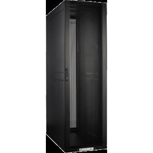 Шкаф LANMASTER DCS 48U 800x1200 мм, с перфорированными дверьми, без боковых панелей, черный