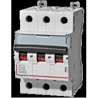 Автоматический выключатель Legrand  DX3-E C10 3П 6kA (407289)