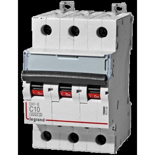 Автоматический выключатель Legrand  DX3-E C10 3П 6kA (407289) 407289