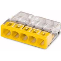 Клеммы для распределительных коробок 2273-205 на 5 пров. сечением 0,5-2,5 мм2 (без пасты) WAGO