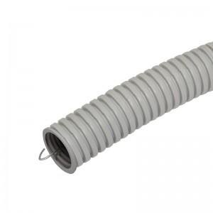 Труба гофрированная 63мм ПВХ (серая) с зондом легкая (бухта 15 м)