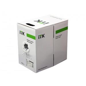 Кабель ITK LC1-C5E04-111 Витая пара U/UTP кат.5E 4х2х24AWG PVC серый (305м)