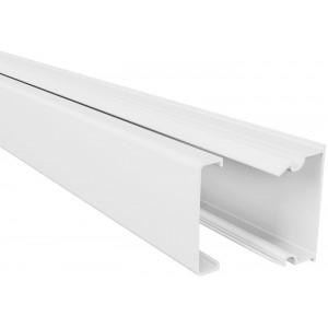 Мини-канал Metra - 24x14 - 2 метра - с крышкой - белый