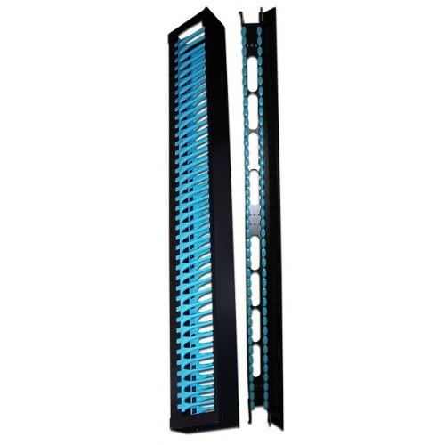 Вертикальные органайзеры повышенной емкости, 47U, для шкафов Business шириной 800 мм, 2 шт., черные TWT-CBB-DVO-47U
