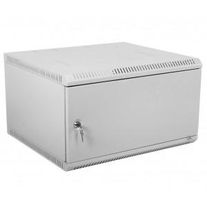 """Шкаф 19"""" ЦМО 9U телекоммуникационный настенный разборный 600х520 дверь металл"""