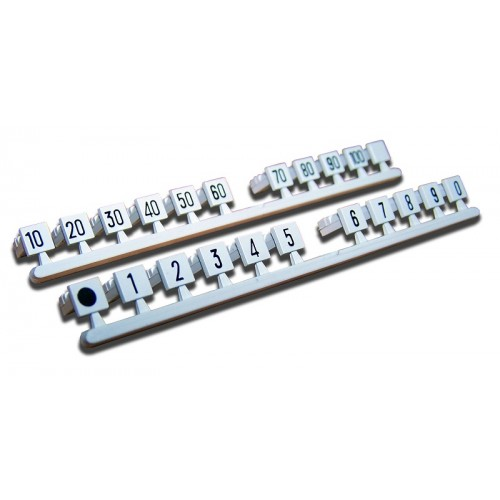 Вставка с цифрами. Цвет: серый; маркировка: 1...0. (аналог Krone 6089 3 023-00) TWT-LSA-M-01