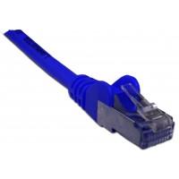 Патч-корд RJ45 кат 6 FTP шнур медный экранированный LANMASTER 0.5 м LSZH синий