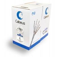 Cabeus FTP-4P-Cat.5e-SOLID-GY Кабель FTP, c5e,  витая пара экранированная  F/UTP 4 пары 0,51мм 305м
