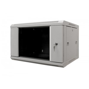 """MDX-SH-9U60-45-GS-GY Шкаф 19"""" 9U настенный, 450 мм, дверь стекло, серый"""