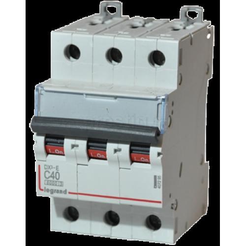 Автоматический выключатель Legrand  DX3-E C40 3П 6kA (407295) 407295