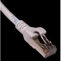 Патч-корд RJ45 кат 6A FTP шнур медный экранированный LANMASTER 5.0 м LSZH серый