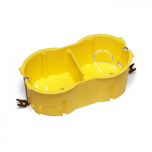 Подрозеточная коробка в стену для суппорта 45х90, желтая TWT-BX45x90-YL